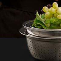 不锈钢盆子套装加厚圆形家用厨房打蛋和面洗菜盆沥水篮漏汤盆