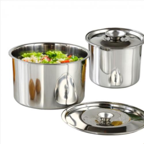 不锈钢盆圆形带盖家用打蛋盆大汤盆和面盆厨房调料盆调料缸装油盆