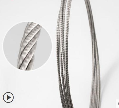 304不锈钢丝绳1 1.5 2 3 4 5 6 8mm粗晾衣架不锈钢包塑软细钢丝绳