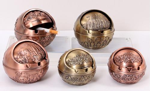 不锈钢烟灰缸 金属烟灰缸 圆形工艺品 促销  厂家直销