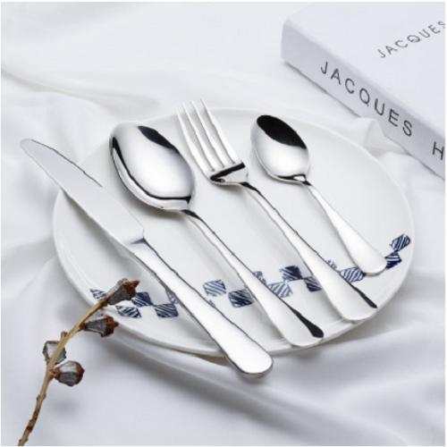 304不锈钢西餐具1010咖啡勺子调羹韩式布轮光抛光刀叉勺礼定制