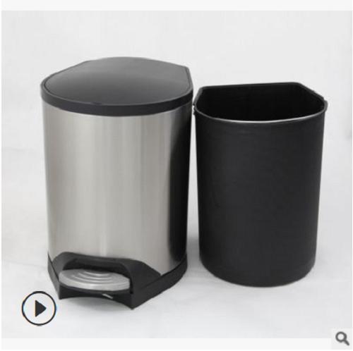 不锈钢脚踏垃圾桶 不锈钢桶定制 脚踩垃圾桶 脚踏垃圾桶 收纳桶