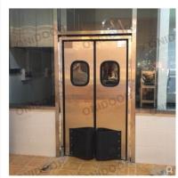 定制 超市项目防撞门不锈钢自由门超市通道防撞自由门