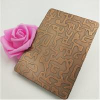 厂家供应304不锈钢蚀刻 自由纹古铜蚀刻装饰不锈钢板材 铜门材料