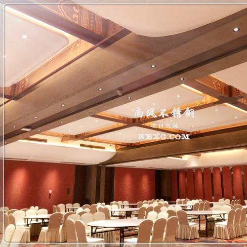酒店大功能厅吊顶设计及不锈钢装饰