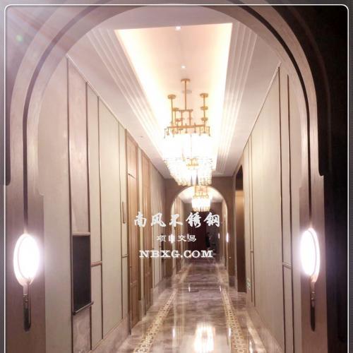 高档酒店走廊设计及不锈钢装饰
