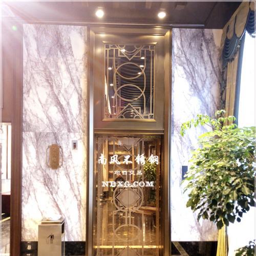 酒店、高档场所镜面不锈钢电梯蚀刻板,高级304不锈钢电梯板定制