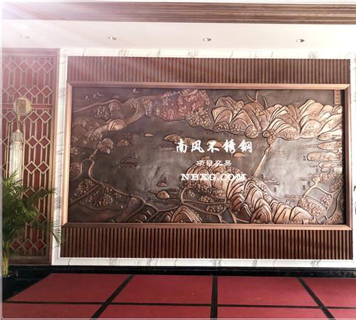 酒店大堂背景墙不锈钢花纹板/不锈钢建筑装饰/304镜面不锈钢