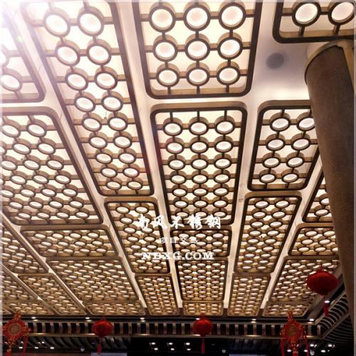 流行的不锈钢天花板/3D酒店反射天花板不锈钢