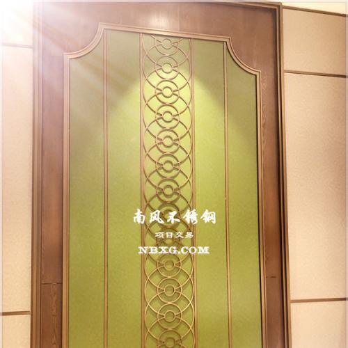 KTV包厢门板,玫瑰金菱形压花不锈钢,彩色不锈钢KTV门板