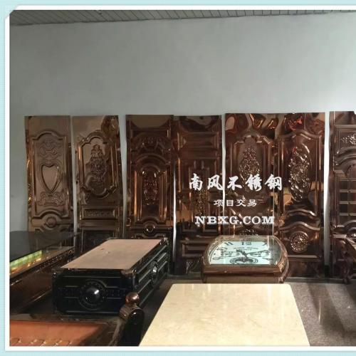 201玫瑰金不锈钢压花板,高档不锈钢KTV门板