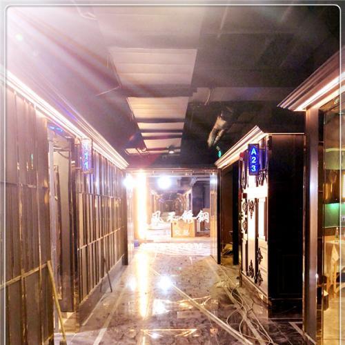彩色不锈钢板,星级酒店,会所,KTV 装饰工程,不锈钢花纹板